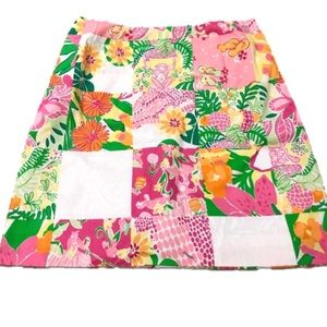 LILLY PULITZER Punch Bowl Patch Skirt Size 8